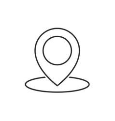 geo location pin line icon vector image vector image