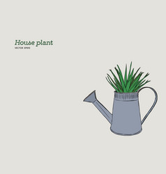 house plant in pot hand draw sketch vector image vector image