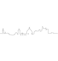 isolated florence cityscape vector image vector image
