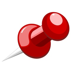 Pushpin on a white background vector image