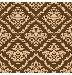 Retro brown seamless background vector image