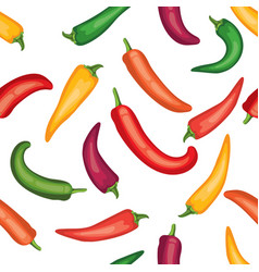 seamless chile pepper pattern vector image vector image
