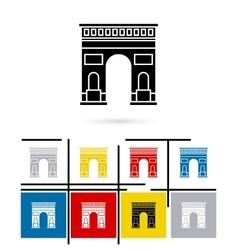 Triumphal Arch in Paris icon vector image vector image