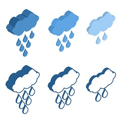 Cloud Isometric icon for Meteo applications vector image