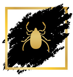 dust mite sign golden icon vector image