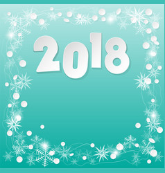 happy new year 2018 background paper white design vector image
