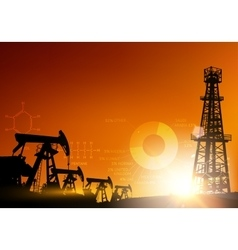 Oil charts vector image vector image