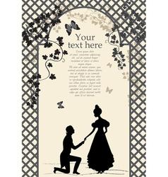 Romantic couple under arbor vector image