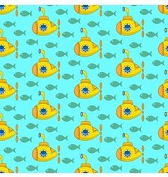 Yellow submarine pattern vector image