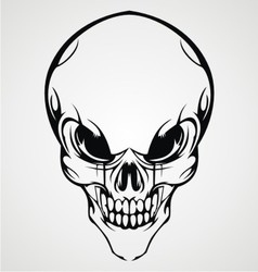 Abstract Skull Face vector image