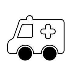 ambulance medical isolated icon vector image