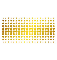 apple gold halftone matrix vector image