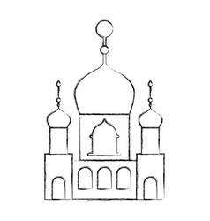 arabic castle building facade vector image