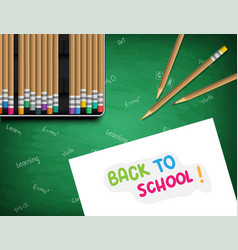 back to school white sheet of paper with a vector image