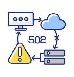 Bad gateway notification rgb color icon vector