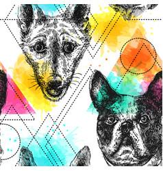 Beautiful hand drawn seamless pattern vector
