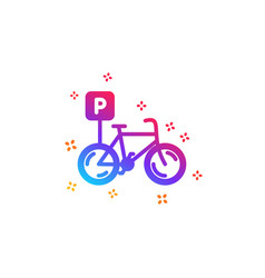 Bicycle parking icon bike park sign vector