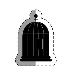 Bird cage isolated icon vector