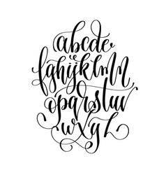 Black and white hand lettering alphabet design vector