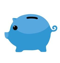 Blue Piggybank Clipart vector