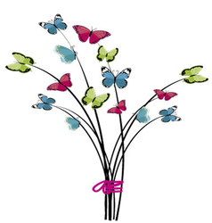 Bouquet of butterflies vector