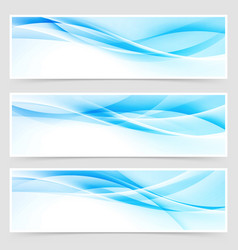 Bright blue abstract swoosh modern line header vector