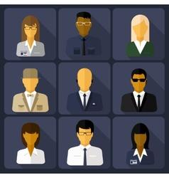 business set stylish avatars woman and man vector image
