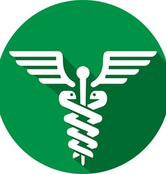 Caduceus Medical Icon vector image