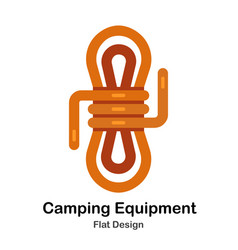 Camping equipment flat icon vector