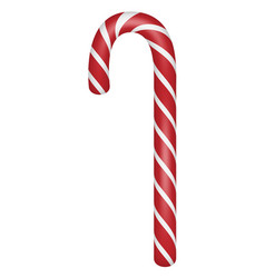 candy xmas stick icon realistic style vector image