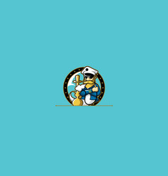 captain ship cigarette logo icon vector image