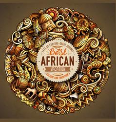 Cartoon doodles africa vector