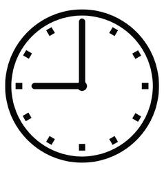 Clock 9 vector image