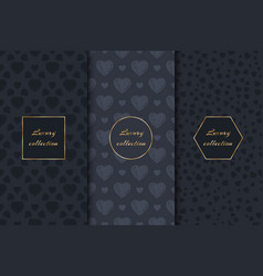 Collection of backgrounds with hearts vector