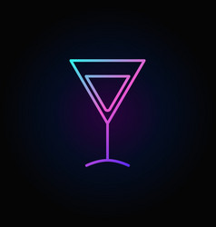 colorful martini glass icon vector image