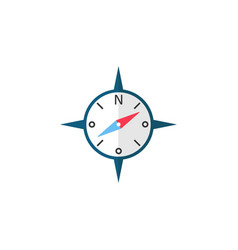 Compass flat icon travel tourism vector