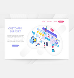 customer support online technical consumer vector image