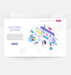 Customer support online technical consumer vector