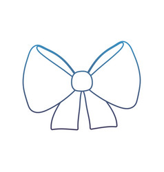 Degraded line ribbon bow decoration event vector