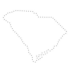 Dot stroke south carolina state map vector