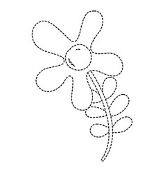 dotted shape beautiful flowers with petals and vector image vector image
