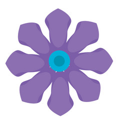 Drawing of violet flower color on white background vector