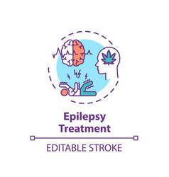 Epilepsy treatment concept icon vector