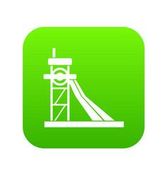 Equipment for washing rocks icon digital green vector