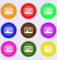 File JPG sign icon Download image file symbol A vector