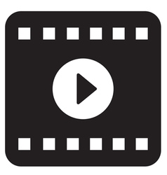 Film Play Icon vector image