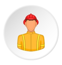 Firefighter icon flat style vector
