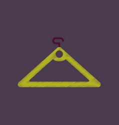 Flat shading style icon hanger vector