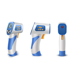 Forehead thermometer non contact infrared medical vector