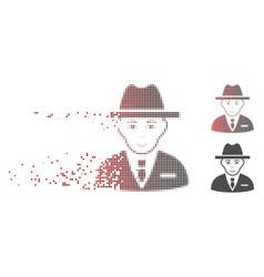 Fractured pixel halftone agent icon vector